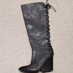 ISOLA dark dark gray heeled boot